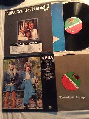 ABBA Lot Of 2 Vinyl LPs Greatest Hits Vol. 1 & 2 Promo Atlantic 1973-79 Gatefold