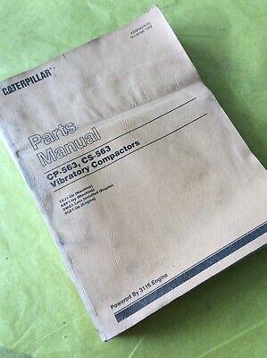 Cat Caterpillar Cs-563 Cp-563 Vibratory Compactor Parts Book Manual 1yj 8xf Shop