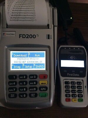 First Data Fd200ti Credit Card Terminal With Fd-35 Pin Pad