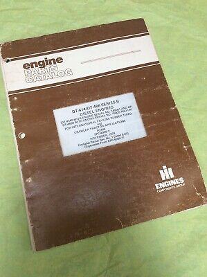 International Payline Dt-414466-b Diesel Engine Parts Catalog Manual Crawler