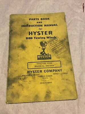 Hyster D8d Towing Winch Caterpillar D8 Crawler Dozer Part Operator Manual Book