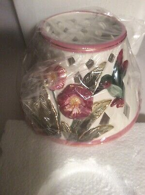 Kimberly Designs 2001 Flower and Hummingbird Tea Light Candle Shade Topper