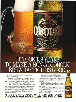 Vintage Print Ad 1989 O'Doul's Non-Alcoholic Brew O Douls Beer It Took 138 Years