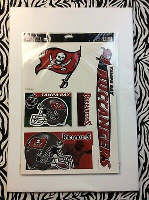 "Huge 5 Piece 17"" X 12"" Tampa Bay Buccaneers Ultra Decal Kit! Car Glass FATHEAD"
