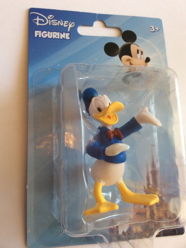 """NIB Disney Donald Duck Plastic 2-1/4"""" Figurine Collectible Toy Cake Topper Gift"""