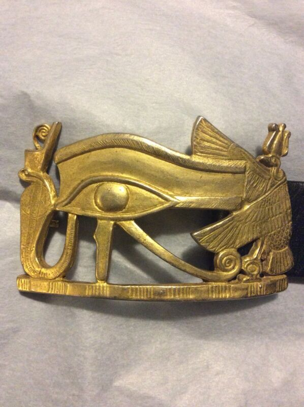 King Tut MMA 1976 Met Rare Vintage Udjat Eye Horus Cobra Belt Buckle