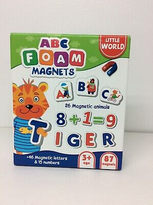Little World ABC Foam Magnets 87 pcs–Fridge Magnets for Toddlers – Baby Magnets