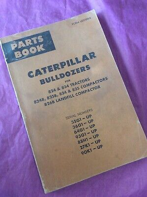Caterpillar Bulldozers 824 834 826 825 Tractors Parts Manual Cat Book Guide List