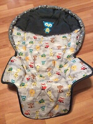 Baby Trend High Chair Cushion Cover Part Replacement Gray Blue Yellow