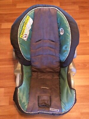 Graco 34 35 SnugRide Baby Car Seat Cushion Cover Part Replacement Gray Green