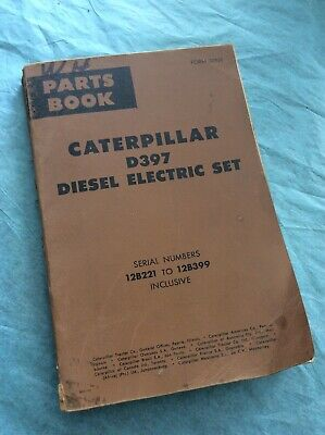 Caterpillar Cat D397 Diesel Electric Set Parts Catalog Manual Book 12b221-399