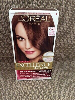 Loreal Paris Excellence Creme Color Hair Dye 6RB Light Reddish Brown Permanent, used for sale  West Palm Beach