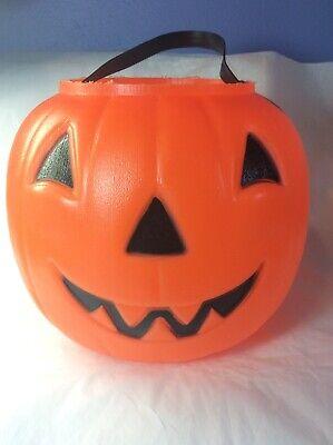 VTG EMPIRE Blow MOLD Halloween JACK-O-LANTERN Pumpkin CANDY Pail BUCKET Treat