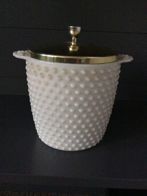 Fenton Milk Glass Jar With Lid Ice Bucket/holder