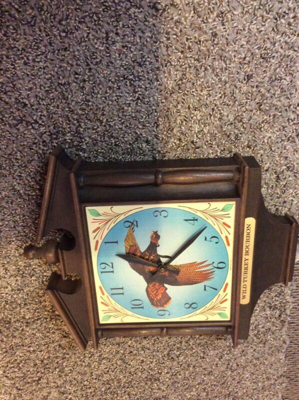 VERY RARE Wild Turkey Bourbon  Vintage Hanging wall Clock