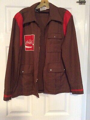 Vintage Brown Coca Cola Delivery Driver Jacket Men's Size 42 Regular Medium