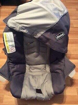 CHICCO Keyfit 30 Infant Car Seat Cushion Cover Canopy Set Parts Gray Silver