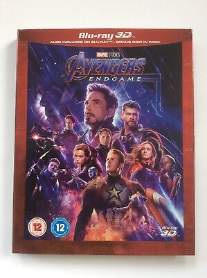 Avengers: Endgame Slipcover Only!! *No 3D Or 2D Disc*
