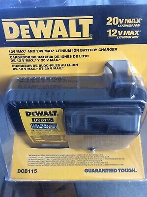 Dewalt 20v Max Lithium Ion Battery Charger New Model Dcb115