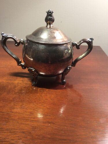 Vintage Leonard Silver Sugar Bowl W/ Lid - $15.00