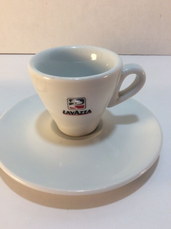Set Of 2 Vintage Lavazza Espresso Coffee Cups & Saucers  Made in Italy