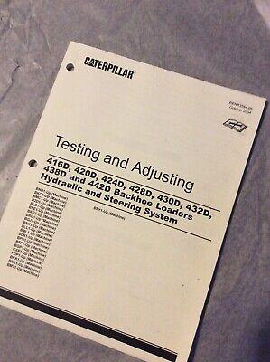 Caterpillar Cat 416d 420d 424d 428d Backhoe Hydraulic Steering Service Manual