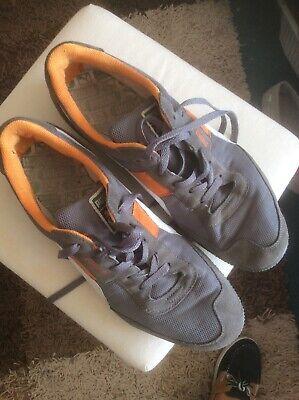 Retro Vintage Style Puma Trainers Grey Orange Size 12 Ex Conditon Minimum Use