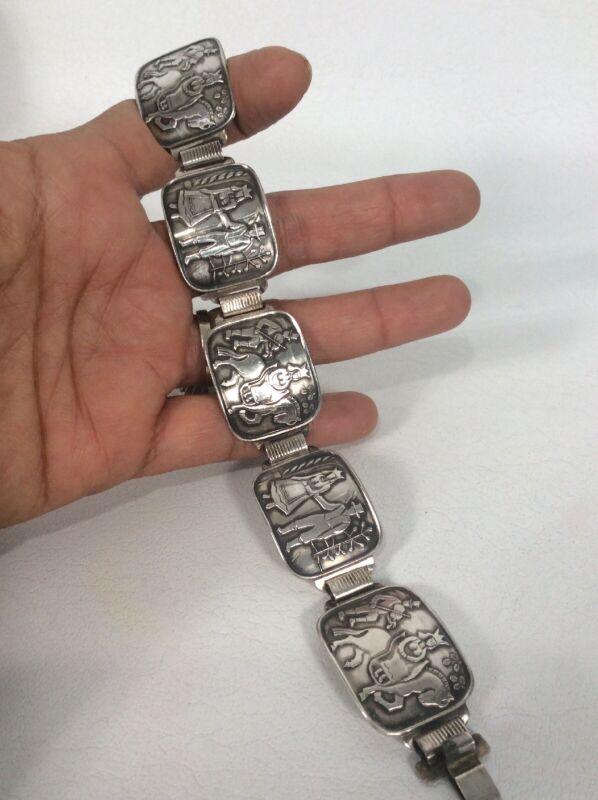 Beautiful Vtg Thune Norway  Sterling Silver 925  Links bracelet