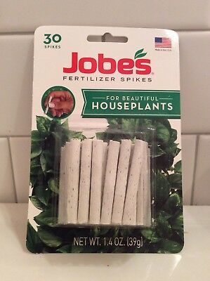 Outdoor Plant Food - Jobe's HOUSEPLANT & ALL Outdoor Plants Fertilizer {{ 30 PACK }} Food Spikes ~