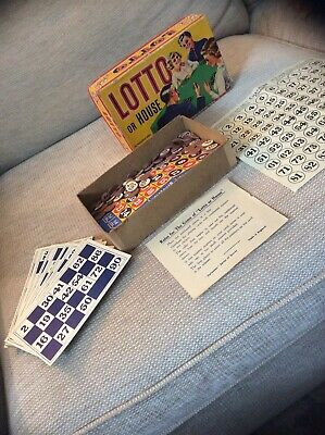 VINTAGE LOTTO OR HOUSE HARLESDEN GAME c 1930's BOXED