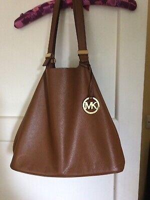 Michael Kors Tan Leather Shoulder/tote Bag
