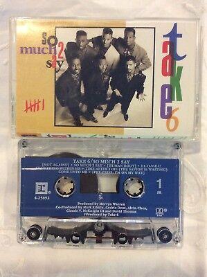 Take 6 So Much 2 Say funk soul gospel album 1990 Cassette (VG+)