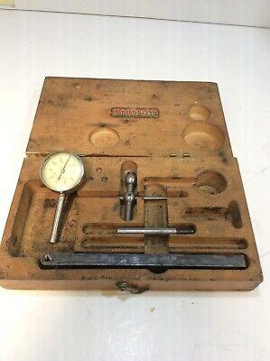 Vintage The L.s. Starrett Company No 196 Jeweled Dial Test Indicator Kit Box