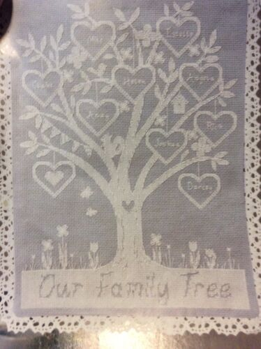Go Down In History Family Tree Cross Stitch Pattern
