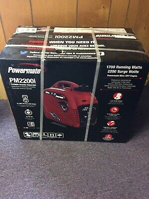 Powermate Pm2200i - 2200-watt Portable Gas Inverter Generator Brand New Sealed