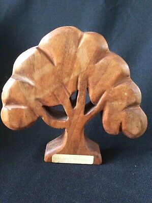 Vintage Walnut Tree Hand Carved Sculpture ~ 16cm Tall