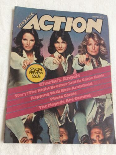 Vintage Scholastic Action Magazine Charlies Angels 1977 - $14.99