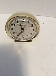 Westclox Baby Ben Gold Tone Alarm Clock Battery Operated  Tested Off White Gold