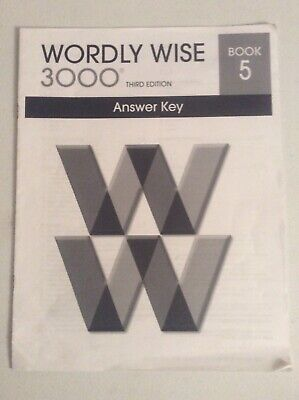 Wordly Wise 3000 Book 5 3rd edition Answer Key