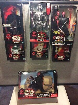 """Lot 7 New Star Wars 12"""" TC-14 Darth Maul  Anakin R2-A6 Pit Droids Sith Speed - Star Wars 7 Sith"""