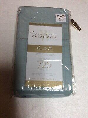 Wamsutta Dream Zone 2pc Aqua Queen Pillowcases 725 Thread Count Brand New