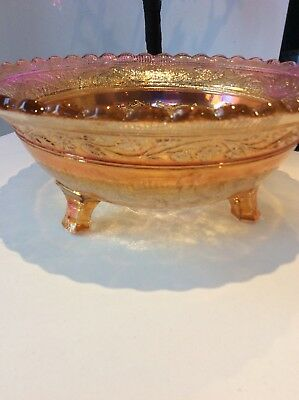 Rare Large Collectors Country Scene Carnival Bowl 3 Legs Gift Present. Ornament