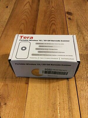 Tera Mini Wireless Barcode Scanner Compatible Bluetooth 1dm 2d Qr Nib Reseller