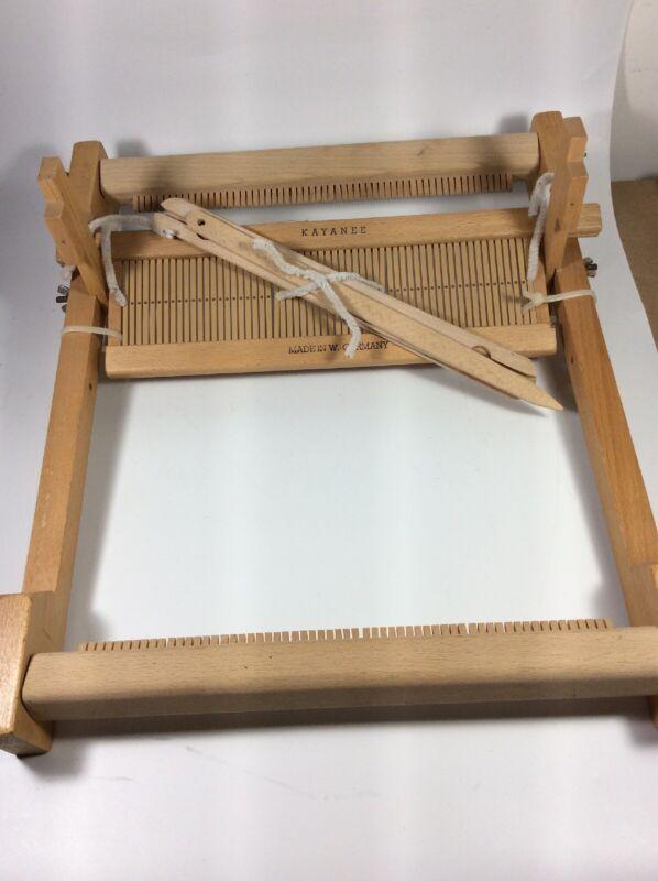 """Vintage KAYanEE Weaving Loom Wood Made In West Germany 12"""""""