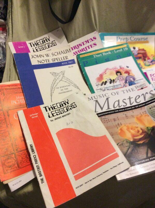 Lot of 25 piano music books- Mixed Music