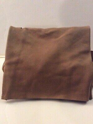 PRADA Large Satchel Bag Crossbody Original Deer Skin Beige Beautiful