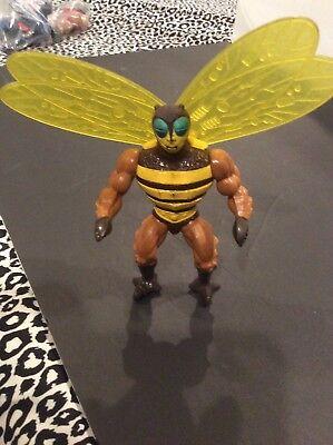 6b9262c957d Vintage MotU Masters of the Universe BUZZOFF He-Man Action Figure Bee (B)