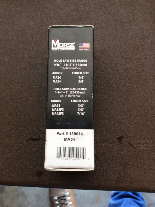 Morse Holesaw And Arbor Part#139014