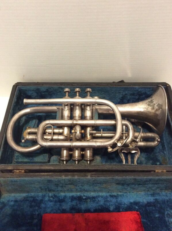 Antique Lamoreaux Freres French Cornet Circa 1910