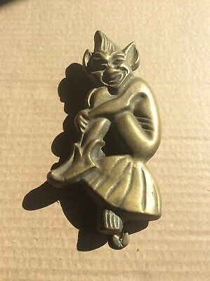 VINTAGE BRASS DOOR KNOCKER (PIXI / IMP)